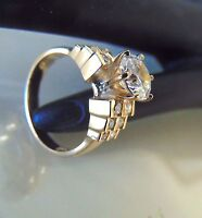 1.89 ct 14k Solid Yellow gold Diamond round cut Engagement Wedding Lady's ring