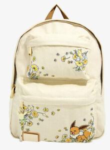 Loungefly Pokemon Eevee Floral Build-Up School Backpack