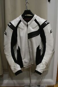 RS Taichi RSJ826 Leather Motorcycle Jacket Euro 54/US 44 with Extras