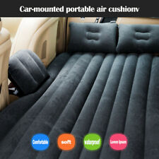 Car Air Bed Travel Inflatable Mattress Back Seat Cushion Camping black Sofa