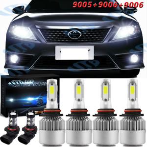 For Toyota Camry 2002-2006 White LED High Low Beam Headlight Fog Light Combo Kit