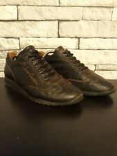 Versace Trainers Jeans Couture Trainers Brown Leather Uk Size 7