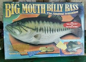 nos vtg Gemmy Big Mouth Billy Bass singing animated #36136 Fish toy 1998