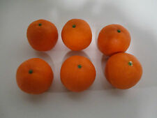 6 Stück Künstliche Orangen wie echt Theke Deko Obst Gemüse Orange künstlich Neu