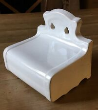 Vintage Ceramic Toilet Roll Tissue Holder French Antique Bathroom