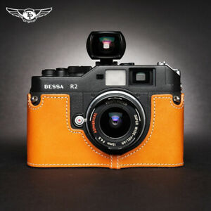 Leather Case For Voigtlaender Bessa R2 R3M R4A Rollei 35RF Handmade Camera Cover
