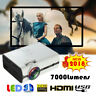 7000 Lumens 1080P Full HD Mini LED Projector 3D Home Theater Cinema HDMI VGA USB