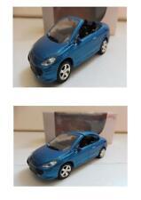 """Lot 2 Peugeot 307 CC Bleu 1/64 """"3 Inche"""" Diecast NOREV Produit NEUF !!"""