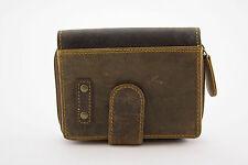 Herren Echt Leder MINI Geldbörse Geldbeutel Portemonnaie, Vintage Braun *NEU*
