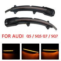 2PCS Dynamic Turn Signal Light Side Mirror Indicator For Audi Q5 / SQ5 Q7 /  3