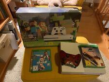 Microsoft Xbox One S - Minecraft Edition 500GB Weiß + 4 Spiele