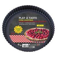 Non-Stick Tart Pan Fluted Sponge Flan Tin Quiche Pan Dish Sponge Cake Tray Round