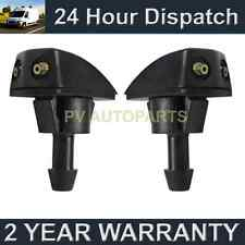 PAIR UNIVERSAL WINDSCREEN WASHER HEADLAMP TWIN JET STRAIGHT INLET PUSH FIT WWY12