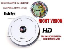 TELECAMERA FULL HD ROTANTE WIFI IP CAMERA HD 720P WIRELESS LED IR LAN 360° LIVE