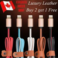 Luxury leather 8 pin Lightning charging data sync cable 1 m for apple Ipad