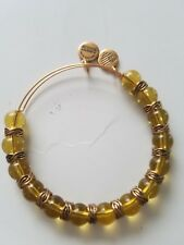 NEW ALEX and ANI  Beaded Yellow GOLD Energy Bangle BRACELET