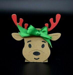 3D Christmas Reindeer Metal Cutting Die Card making, Scrapbooking *UK Seller* D4