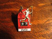 Coca Cola Atlanta Olympics Lapel Pin - Vintage 1996 Georgia USA Games Coke Pin