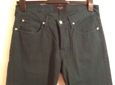 BNWT 100% Auth Paul Smith, Mens Green Taper Fit Jeans. 30 RRP £185.00