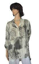 CE 40 42 44 blusa camisa pescadores camisa túnica blusenhemd champán m gris Italia