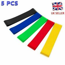 Resistance Loop Bands for Exercise Sports Fitness Home Gym Yoga Set of 5 + Bag