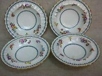 Vtg Set of 4 Gold-Rimmed Royal Worcester Cordelia Pattern Bone China Fruit Bowls
