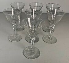 Music Note Etched Champagne Glasses set of 7