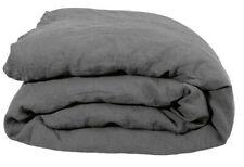 ZOEPPRITZ Bettwäsche STAY Leinen 135x200+80x80 charcoal grau Vintage-Knitter