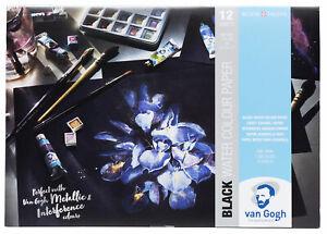 Royal Talens Van Gogh Black Water Colour Paper Block A4