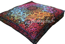 "35X35"" Large Indian Star Mandala Floor Cushion Cover Pillow Pouf Bed Cover Throw"