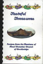 * STOCKBRIDGE GA *TASTEFUL TREASURES COOK BOOK FIRST CHRISTIAN CHURCH * GEORGIA