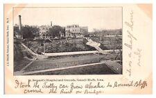 Early 1900s St. Bernard's Hospital & Grounds, Council Bluffs Ia Postcard *5F(2)3