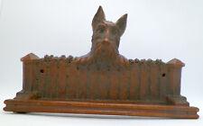 Vintage Ornawood Scottish Terrier, Scottie Dog on Fence Tea Towel Holder