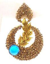 Gold Earring Jhumka Chand Bali Fashion Jewelry Boho Chic Drop Dangle Long E59
