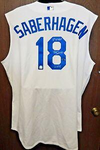 Brett Saberhagen Signed Kansas City Royals Authentic Jersey MLB Authenticated