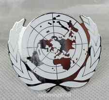 United Nations METAL Peacekeeping Force BERET Cap Badge Pin insignia