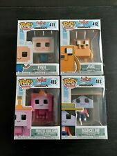 Funko Pop Lot 4 Adventure Time Minecraft Finn Jake Marceline Princess Bubblegum