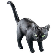 Midnight Cat Halloween Stubentiger groß und wunderschön Latex Grusel Deko Katze
