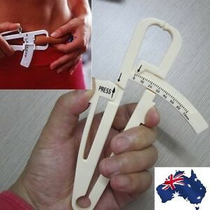 Body Fat Measuring Caliper Monitors Tester analyzer Tape Measure Pack Skin Muscl