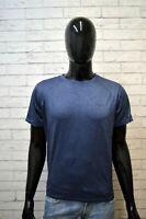 Maglia Blu REBOOK RICHARD LAYTON Uomo Taglia M Maglia Manica Corta Shirt Blu