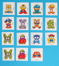 15 Aufkleber Sticker Gogos Gogo Gogo's Figuren 90er Spielfiguren
