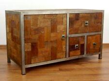 Industrial Design Sideboard Chest of Drawers Cabinet Reclaimed Teak Wood Metal