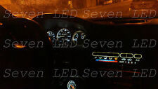 Pure WHITE Honda Civic EG 92-95 Gauge Cluster + Climate control LED KIT