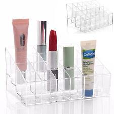 24 Trapezoid Clear Makeup Lipstick Stand Case Display Holder Storage Organizer