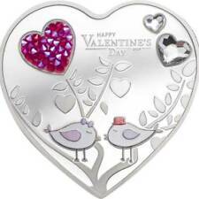 Happy Valentine's Day Silver Hearts Proof Silver Coin 5$ Cook Islands 2021