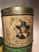 ANTIQUE PURITAN TOBACCO ROUND TIN