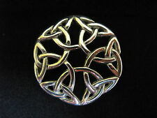 THE CELTIC SYMBOL OF ETERNITY PEWTER BROOCH - ETERNAL INTERLACED- GIFT BOXED