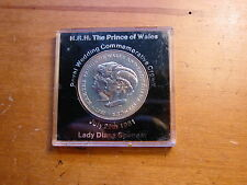 British Princess Diana Prince Charles Wedding Crown Coin 1981 In Plastic Case
