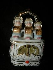 ANTIQUE CONTA BOEHME KATE GREENAWAY #3618 FAIRING TRINKET BOX STAFFORDSHIRE