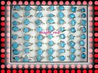 Wholesale bulk lots 25pcs assorted natural stone Turquoise Rings jewelry RG12